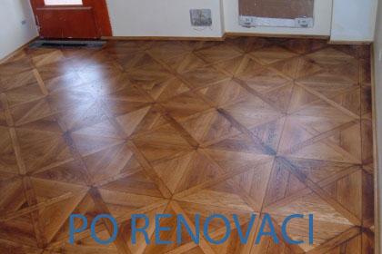 Renovace podlahy postup
