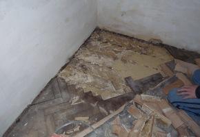 renovace podlahy před dokládkou